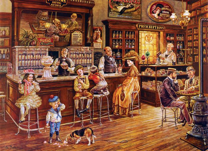 Современный пазл. В середине XIX века мороженое стало продаваться в кафе./Фото: puzzleit.ru