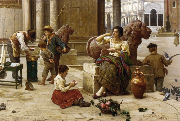 А.Паолетти Венецианский продавец мороженого. Мороженое завоевало популярность по всему миру.