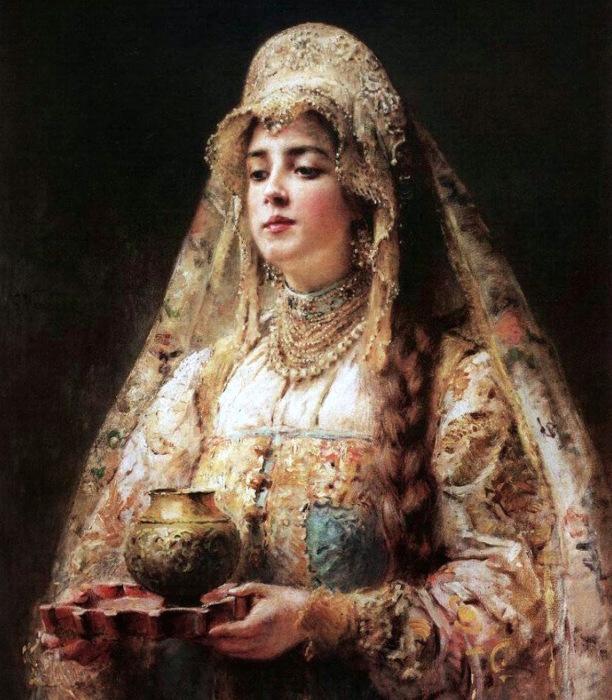 Розовощекая и пышнотелая русская красавица./Фото: russian7.ru