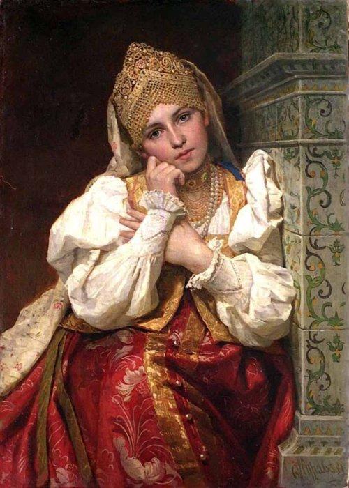 Эталоном красоты в Древней Руси была девушка с гладкой и ровной кожей без изъянов./Фото: ic.pics.livejournal.com