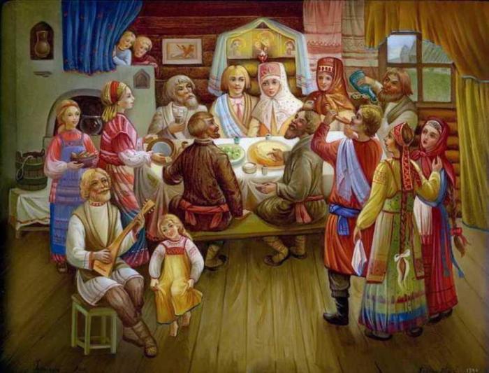Традиционная русская свадьба./Фото: shkolazhizni.ru