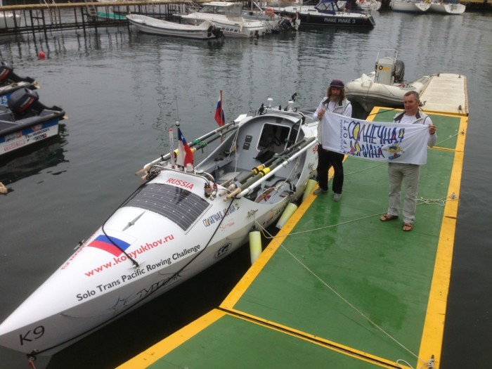 Федор Конюхов и лодка «Тургояк»./Фото: www.dolina.su