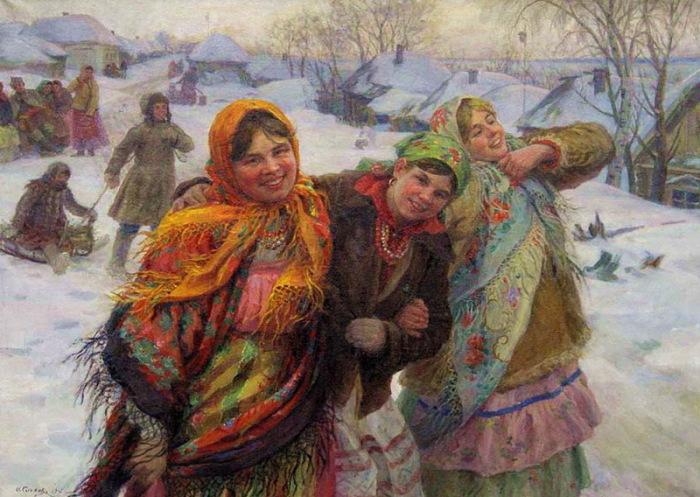 На женщин, вступивших в связь с женатым мужчиной, наводили порчу или мазали ворота дегтем./Фото: ic.pics.livejournal.com