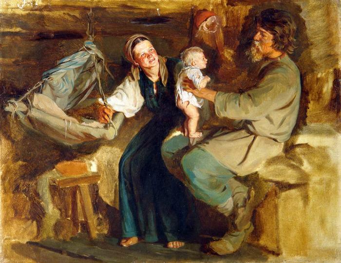 Отцам было важно, чтобы дети были похожи на них./Фото: artmuseum.kaluga.ru