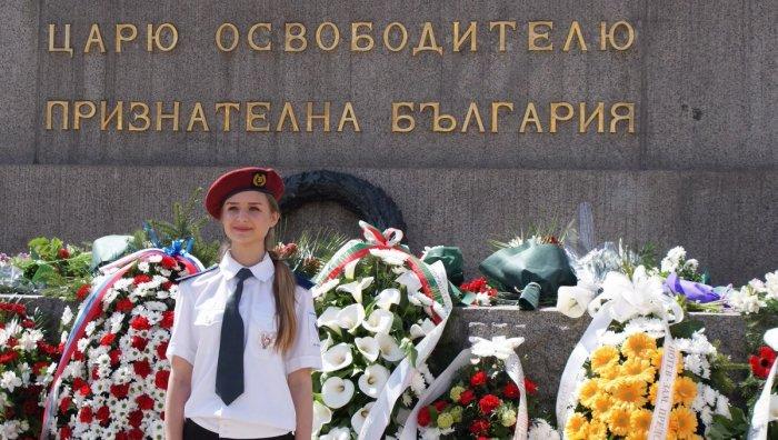 Почетный караул у подножия памятника в день 140-летия освобождения Болгарии./Фото: pbs.twimg.com