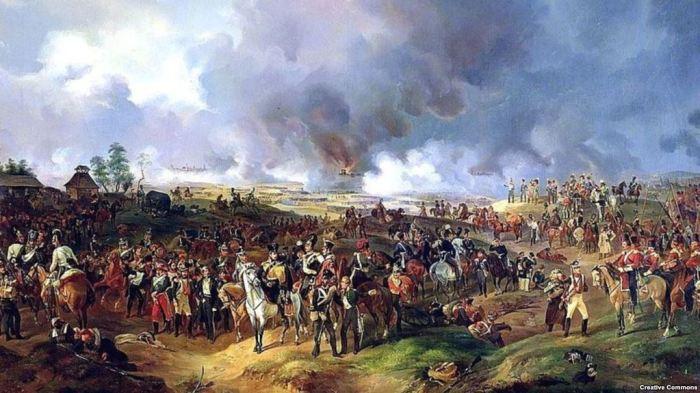 Русские, прусские и австрийские войска на поле битвы под Лейпцигом./Фото: gdb.rferl.org