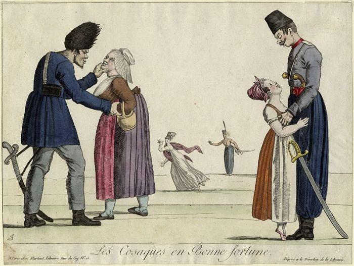 Гарнери Луи, «Большая удача казаков». Карикатура. 1815 год./Фото: вп-библиотека.рф