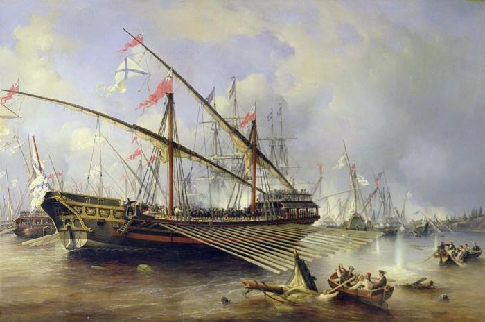 Сражение при Гренгаме 27 июля 1720 года. Художник Ф. Перро./Фото: regnum.ru