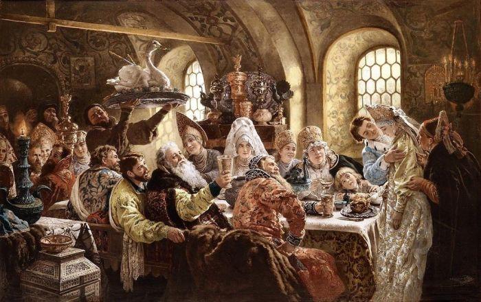 К. Маковский - Боярский свадебный пир в XVII веке.