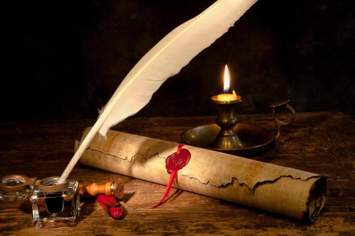 В течение долгих веков для письма чернилам использовали гусиные перья./Фото: shkolazhizni.ru