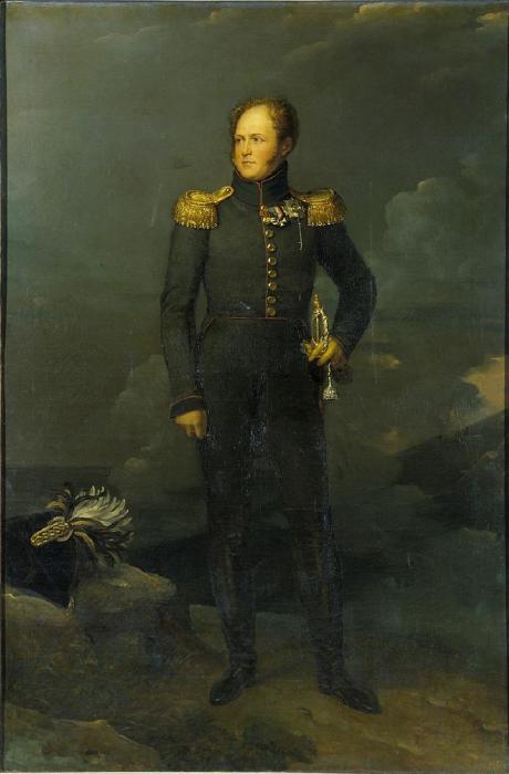 Александр I. Художник Ф. Жерар, 1817 г.