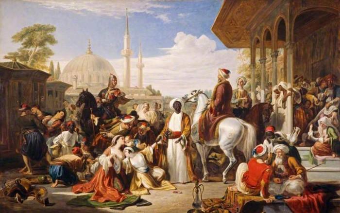 Рынок рабов в Константинополе. /Фото: notebookkirtasiye.com