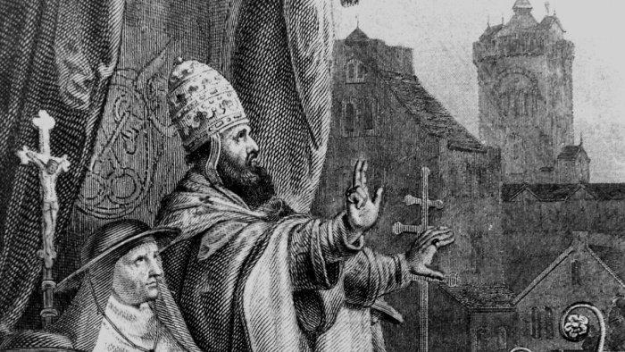 27 ноября 1095 года Папа римский Урбан II на Клермонском соборе./Фото: bilder2.n-tv.de