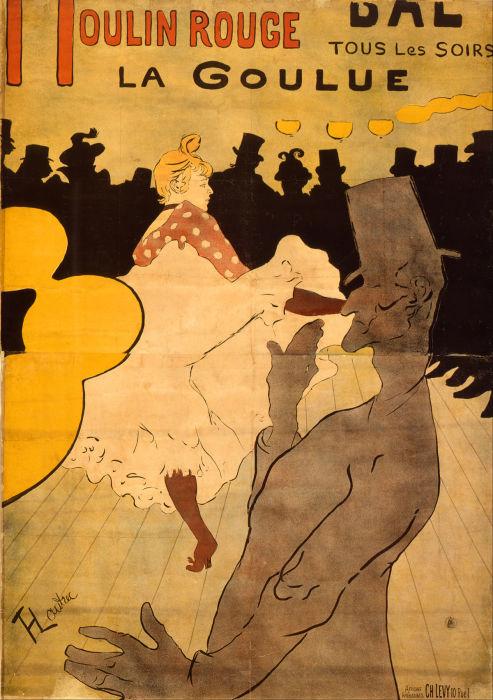 «Мулен Руж. Ла Гулю», плакат 1981 года. Метрополитен-музей.