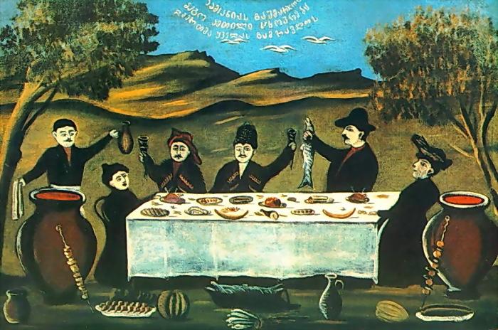 «Компания Бего». Государственный музей искусств Грузии.