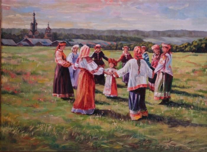Традиционный русский хоровод./Фото: артуспех.рф