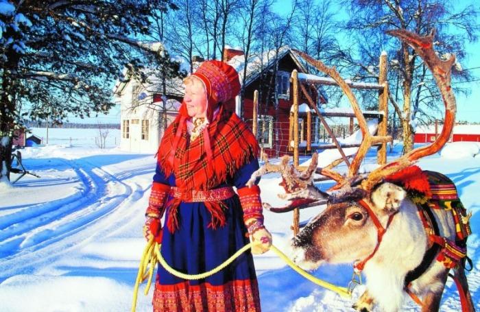 Современные саамы./Фото: artmmuseum.ru