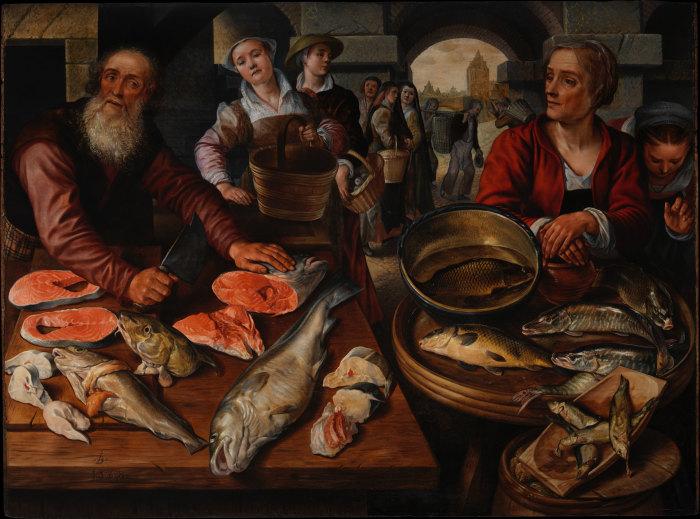 Художник Иоахим Бейкелар, «Рыбный базар».