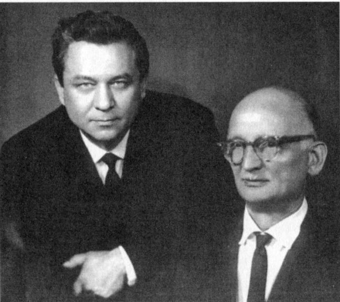 Два полковника-нелегала К. Молодый (слева) и В. Абель-Фишер./Фото: files.vm.ru