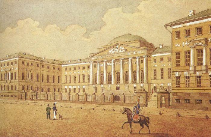 Императорский Московский университет, учреждённый в 1755 году указом императрицы Елизаветы Петровны согласно проекту И. И. Шувалова./Фото: upload.wikimedia.org