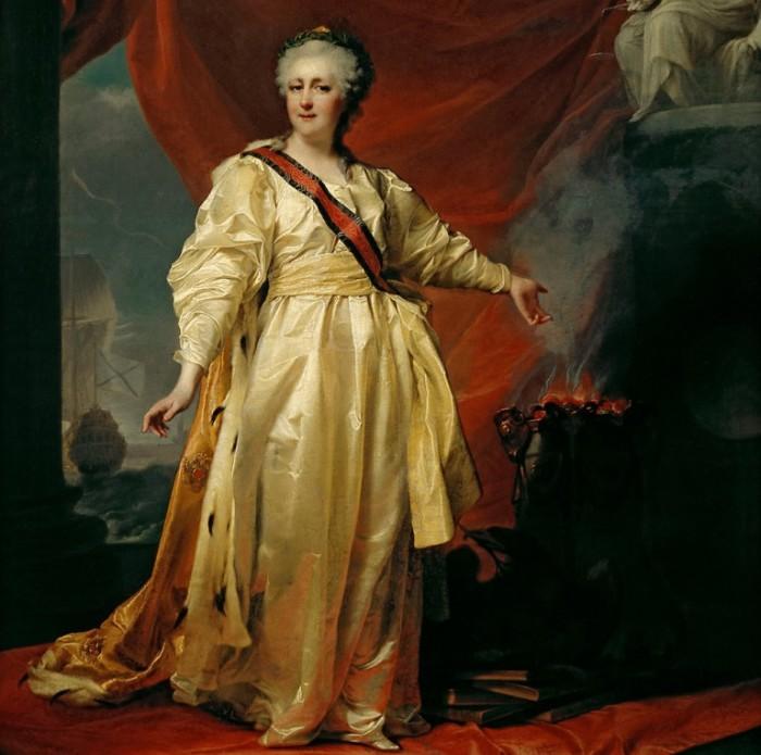 Екатерина II оборачивала край сигареты лентой, чтобы запах не оставался на руках./Фото: russian7.ru
