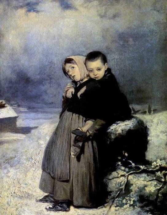 Перов В.Г. «Дети-сироты на кладбище».