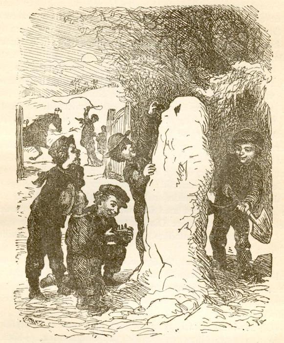 Иллюстрация к книге Г.Х. Андерсена «Снеговик».