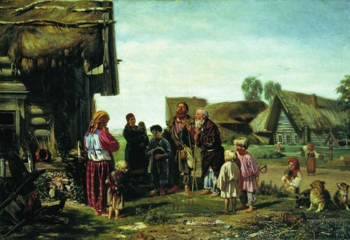 «Калики перехожие», художник И.М. Прянишников