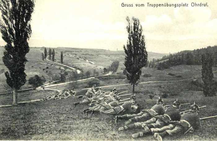 Еще кайзеровские войска проводили учения на полигоне в Ордруфе./Фото: warspot-asset.s3.amazonaws.com