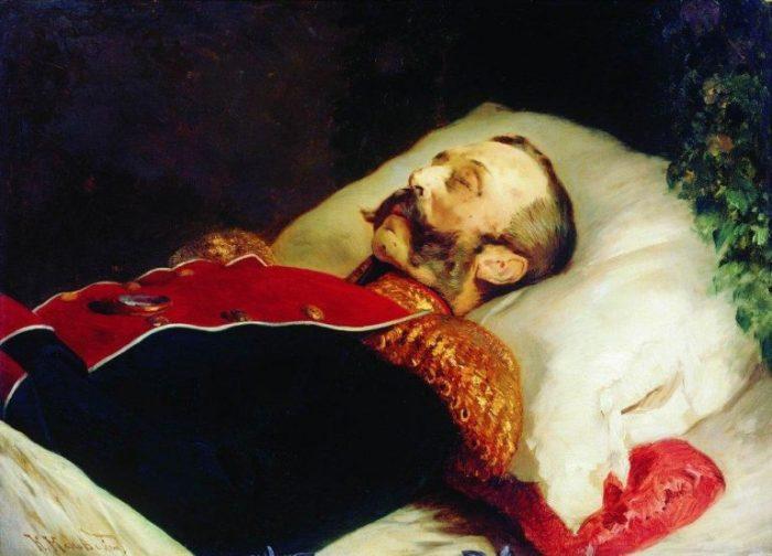 К. Е. Маковский. «Александр II на смертном одре».