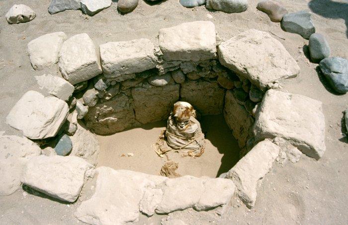 Погребальные ямы и тела обрабатывались специальным образом, чтобы предотвратить разложение./Фото: upload.wikimedia.org
