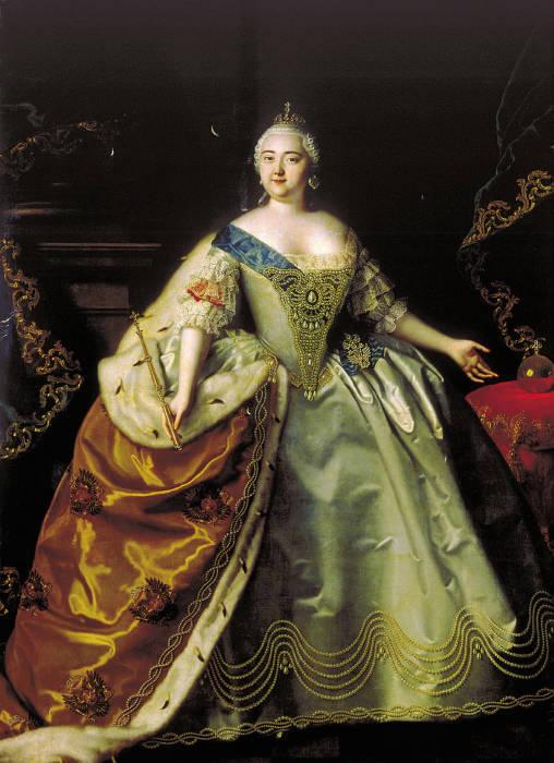 Портрет императрицы Елизаветы Петровны кисти Луи Каравака.