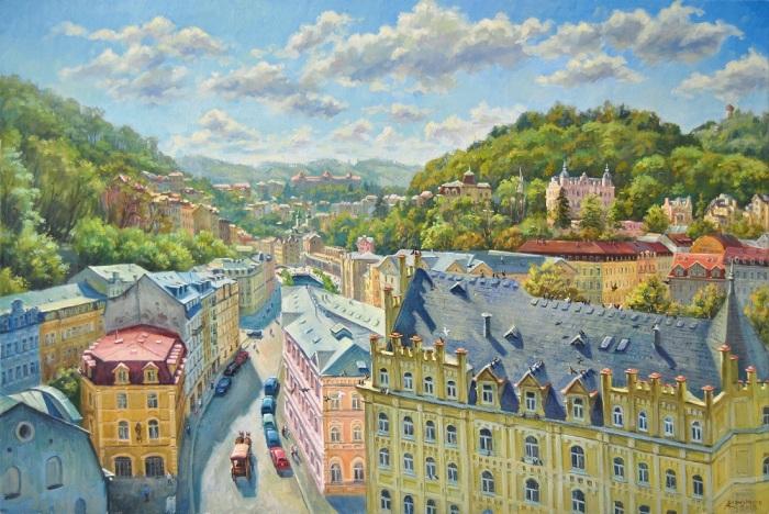 улица Карла-IV в Карловых Варах