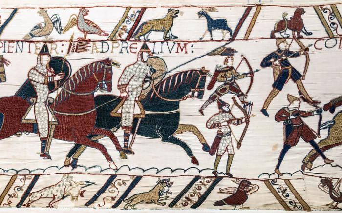 Отец Гиты умер в знаменитой битве при Гастингсе.