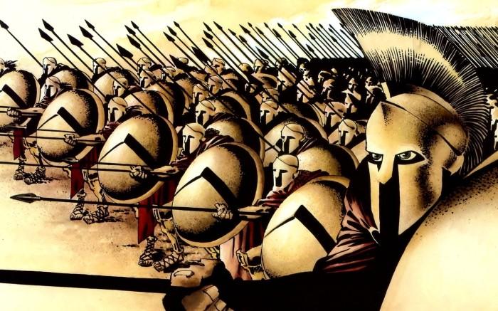 Cпартанцы не знали чувства страха./Фото: pic2.me