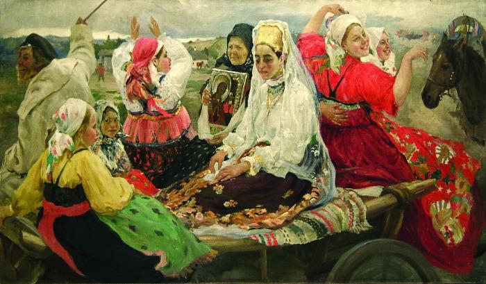 Художник  А. Бучкури,  «Свадебный поезд»./Фото: mkram.ru