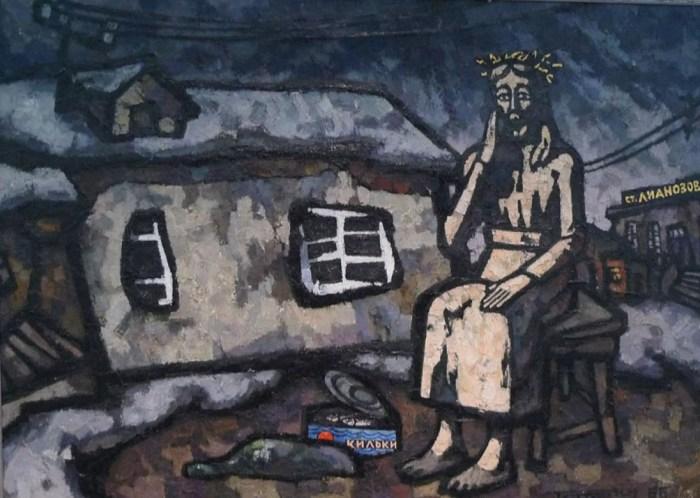 Оскар Рабин «Христос в Лианозово» (1966)