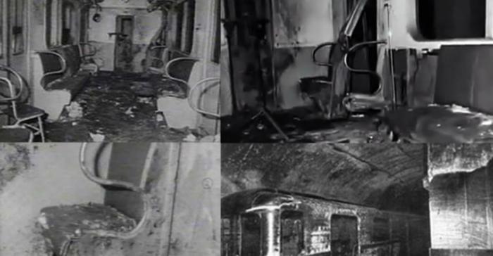 Сохранившиеся фотографии подорванного вагона