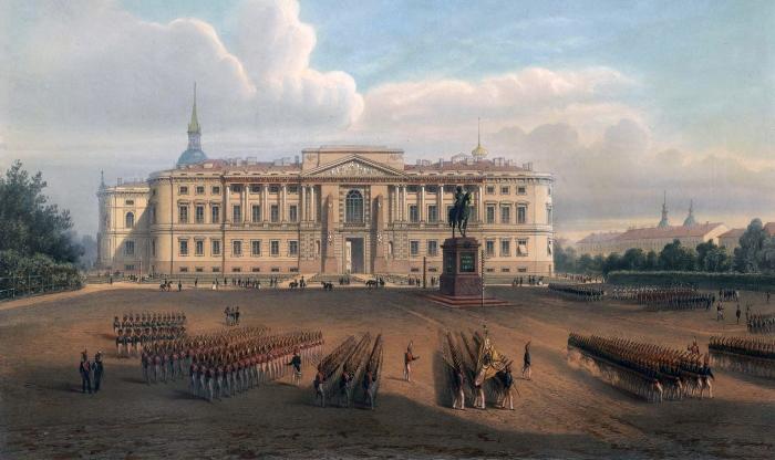 Главное инженерное училище располагалось в Михайловском замке