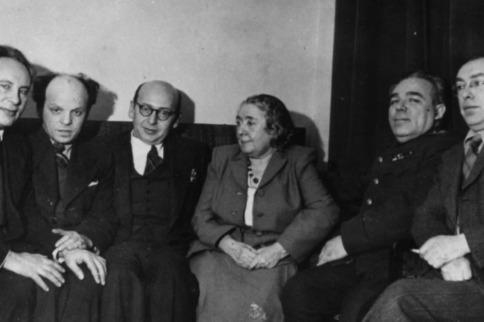 Члены Еврейского антифашистского комитета – всемирно известной организации, созданной в годы войны