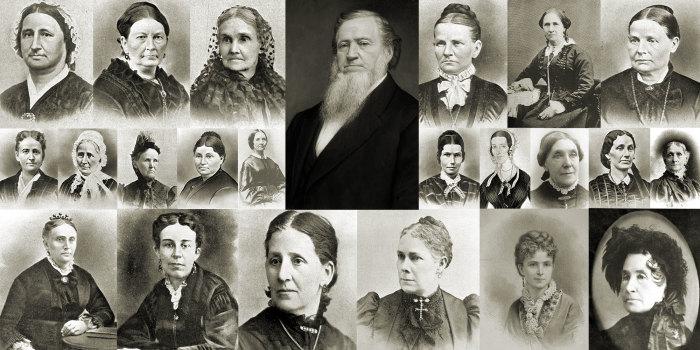 Бригам Янг, второй президент мормонской церкви, и его жёны