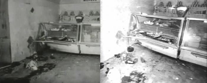 Сохранившиеся фотографии взрыва в продовольственном магазине