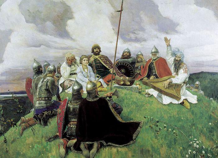 Баян. Художник Виктор Васнецов. 1910 год