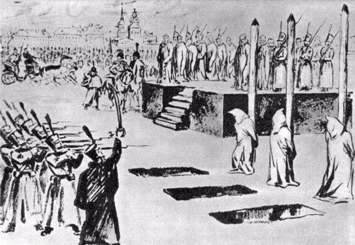 Инсценированная казнь петрашевцев