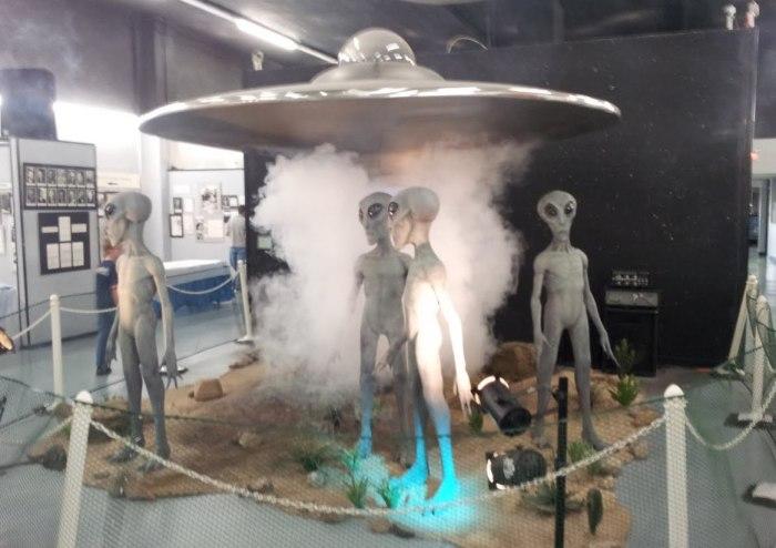 Экспозиция Розуэлльского музея НЛО
