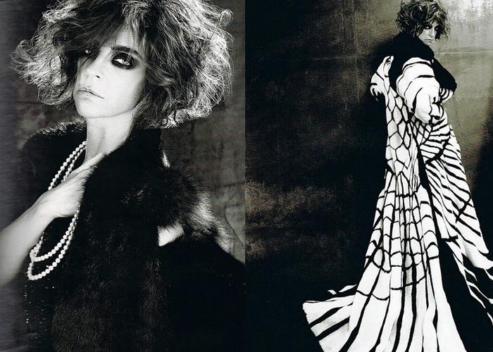 Карин Ройтфельд в образе Луизы Казати./Фото: danger.az