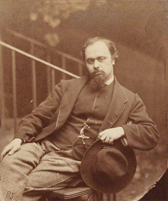 Данте-Габриэль Россетти - основатель братства прерафаэлитов, поэт и художник.