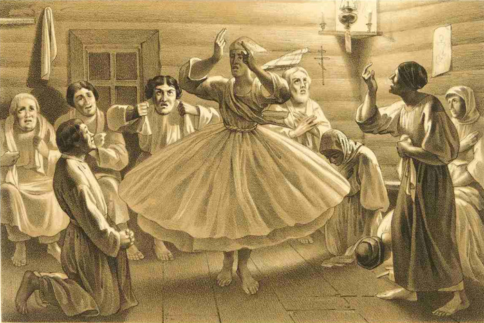 Скопцы во время одного из ритуалов.