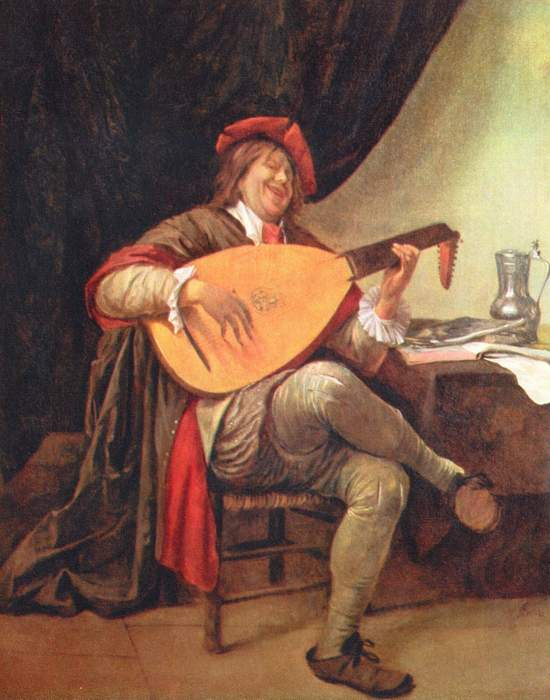 Фрагмент картины «Автопортрет с лютней»./ Фото: greatartists.ru