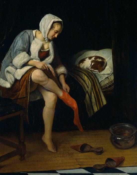 Фрагмент картины «Туалет женщины»./ Фото: greatartists.ru
